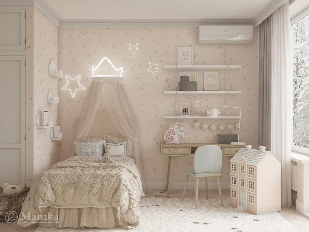 Красивый дизайн детской спальни для игр и отдыха 4