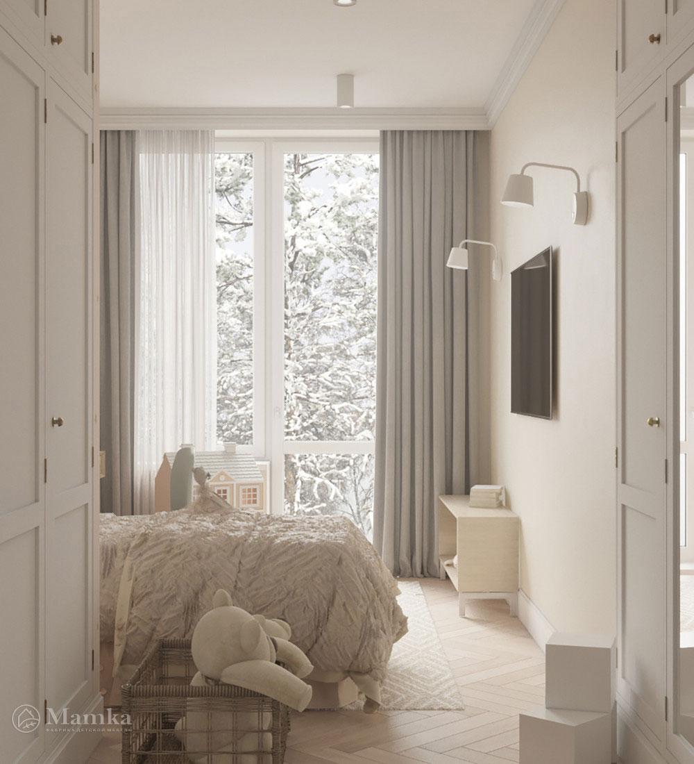 Красивый дизайн детской спальни для игр и отдыха 5