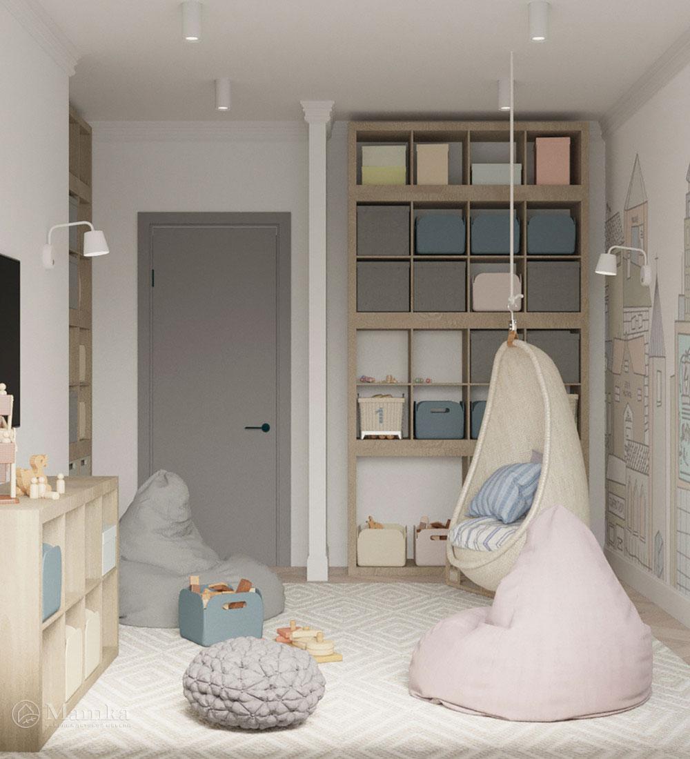 Красивый дизайн детской спальни для игр и отдыха 6