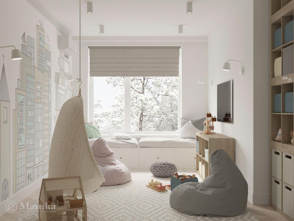 Красивый дизайн детской спальни для игр и отдыха
