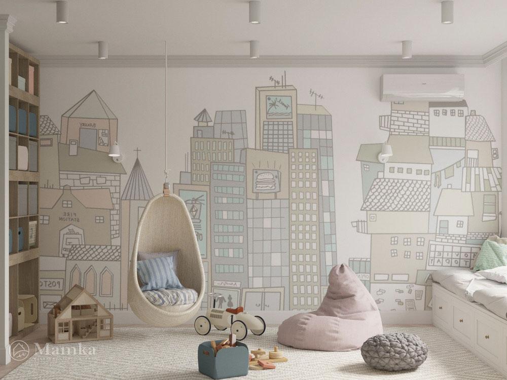 Красивый дизайн детской спальни для игр и отдыха 8