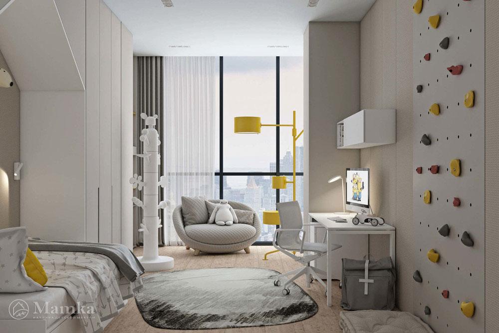 Дизайн детской спальни с лаконичным оформлением 1