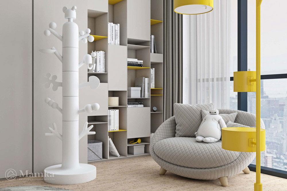 Дизайн детской спальни с лаконичным оформлением 2