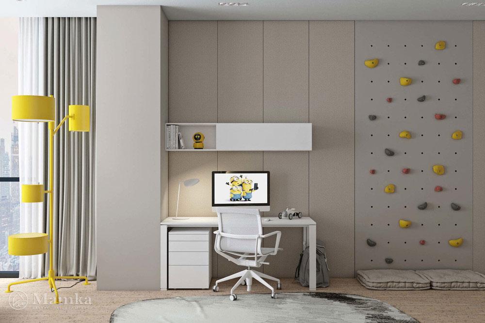 Дизайн детской спальни с лаконичным оформлением-4