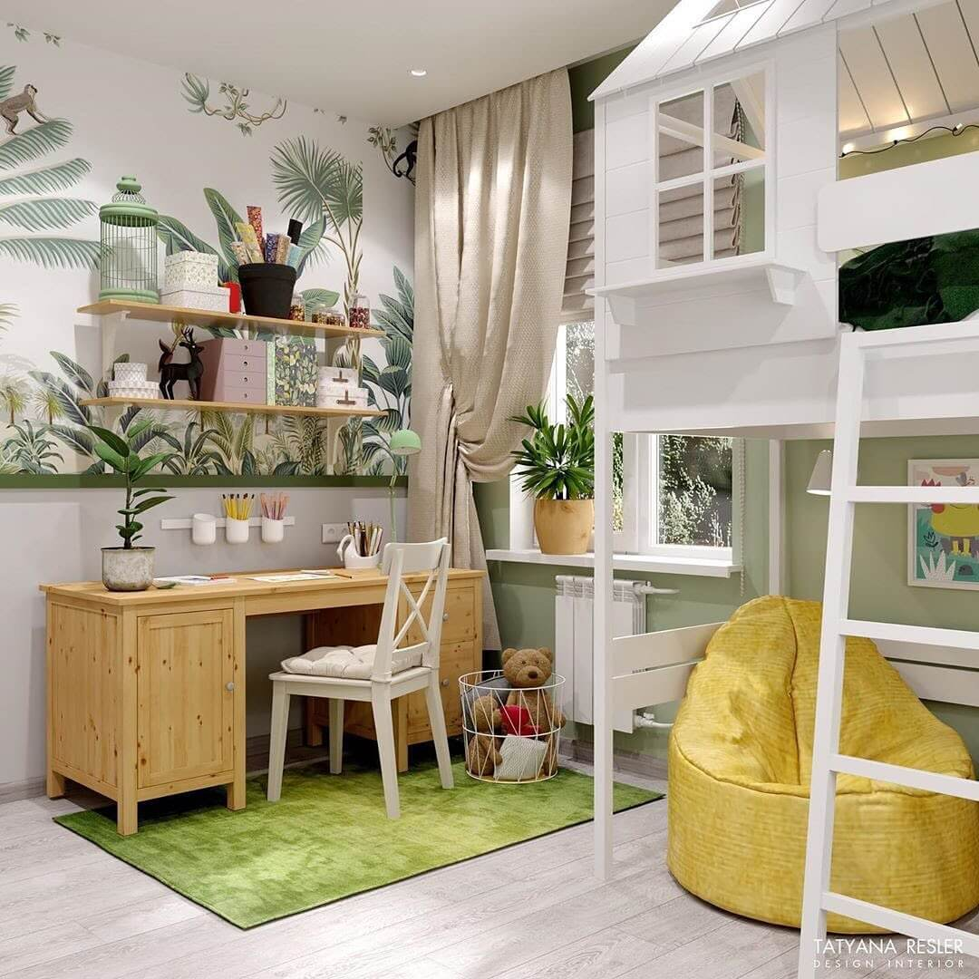 Дизайн интерьера спальни для девочки 1