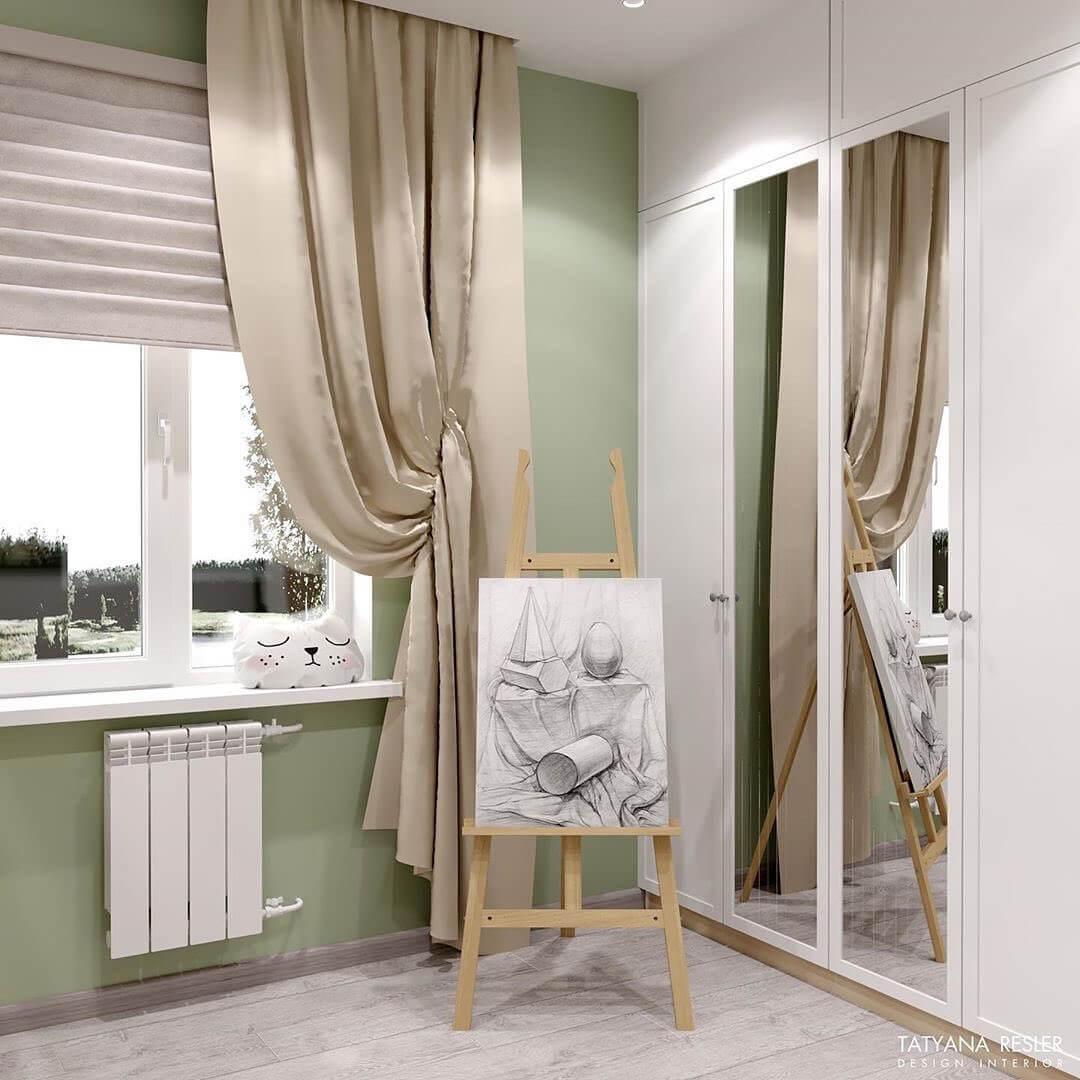 Дизайн интерьера спальни для девочки 6