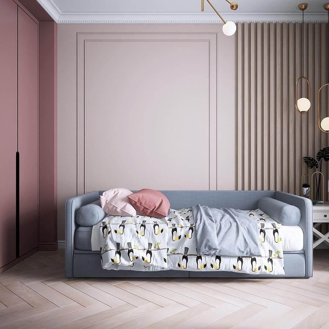 Дизайн интерьера спальни для двух девочек 1