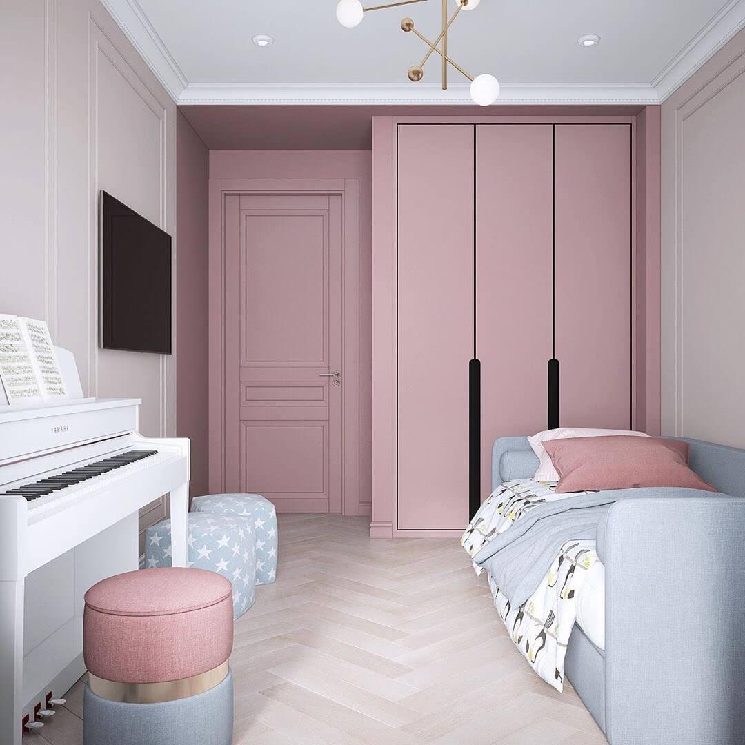 Дизайн интерьера спальни для двух девочек 2