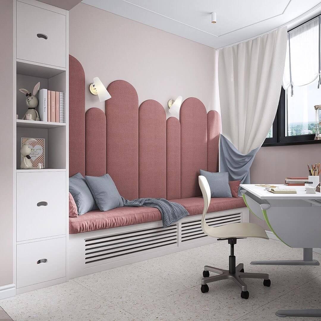 Дизайн интерьера спальни для двух девочек 3