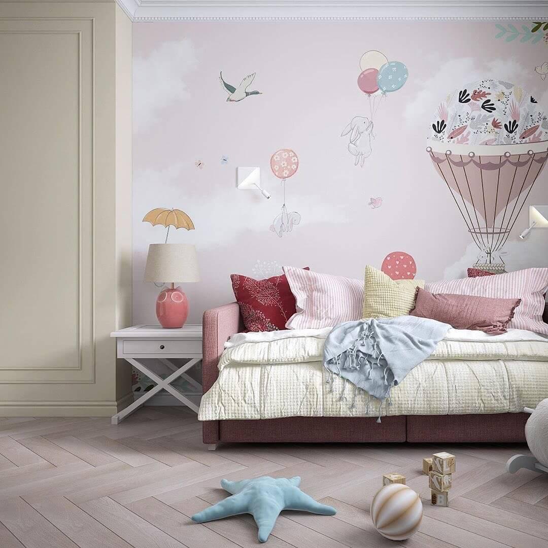 Дизайн интерьера спальни для двух девочек 6