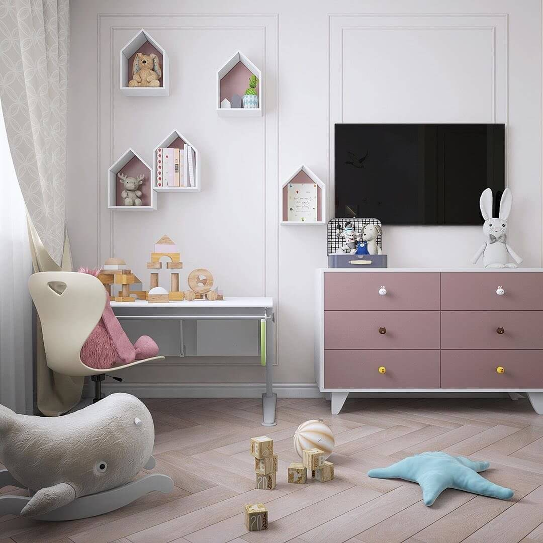 Дизайн интерьера спальни для двух девочек 7