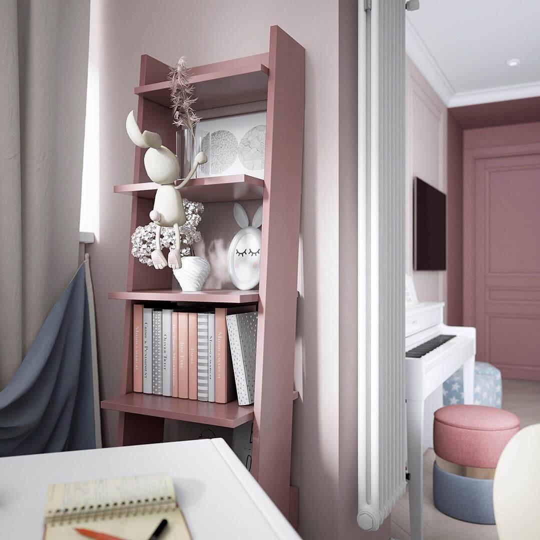 Дизайн интерьера спальни для двух девочек 9