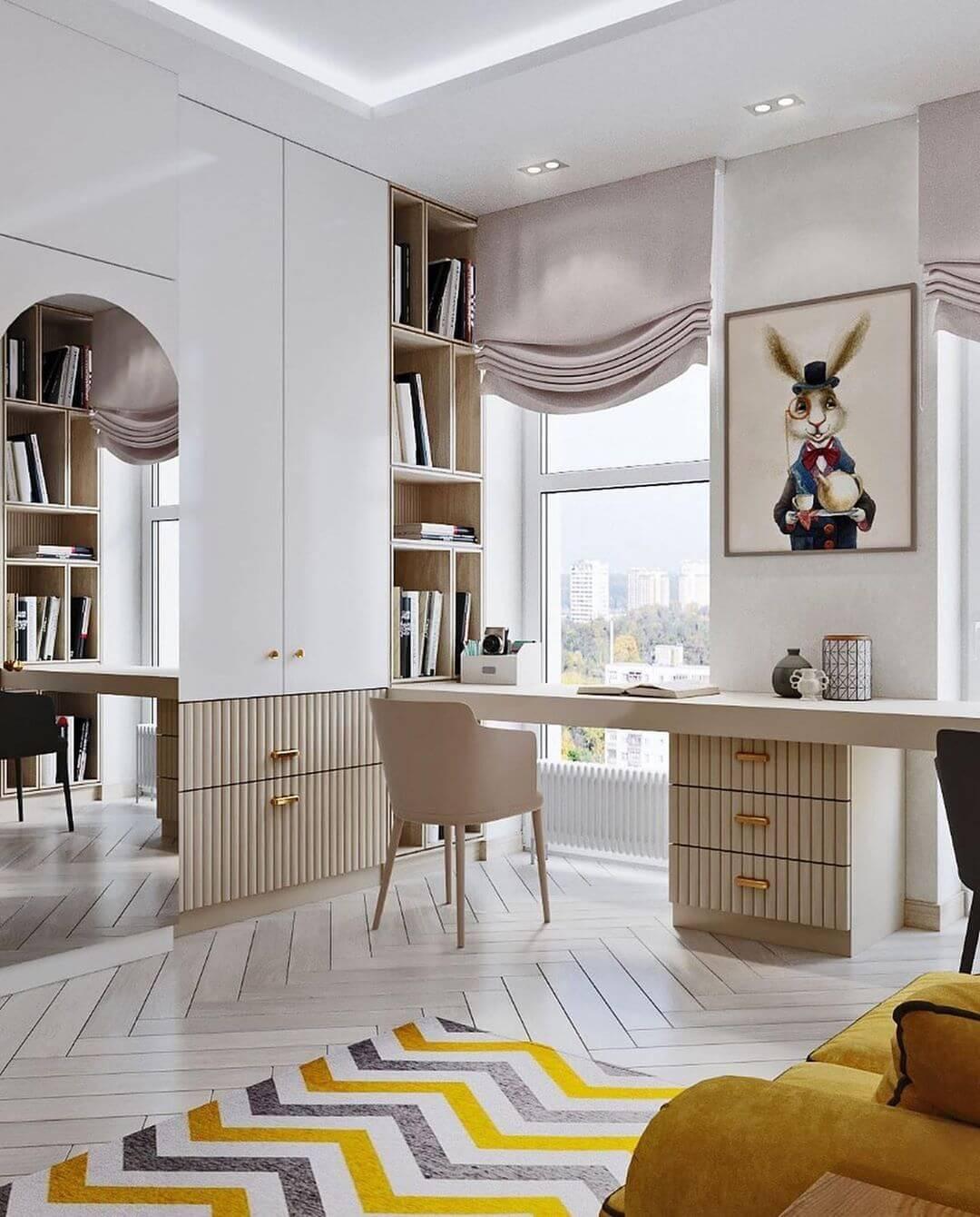 Дизайн комнаты для двоих детей-подростков 3