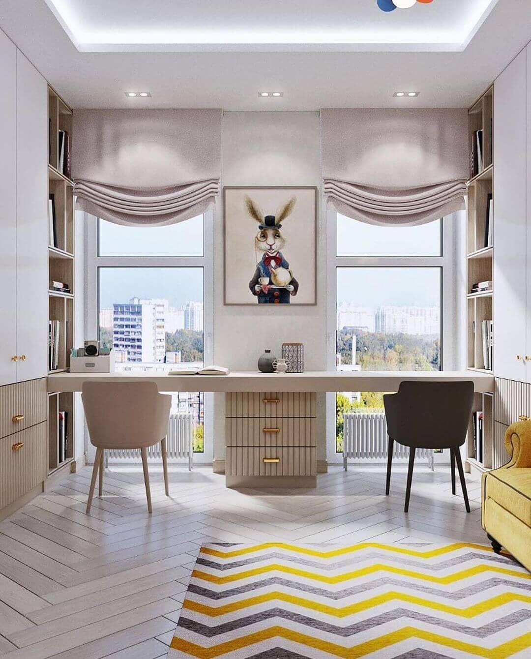 Дизайн комнаты для двоих детей-подростков 4