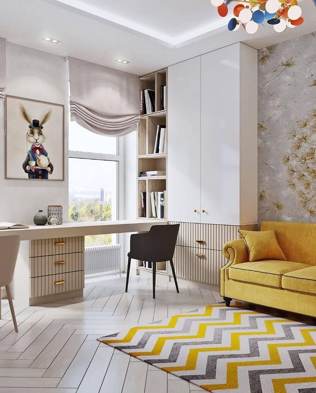 Дизайн комнаты для двоих детей-подростков 5