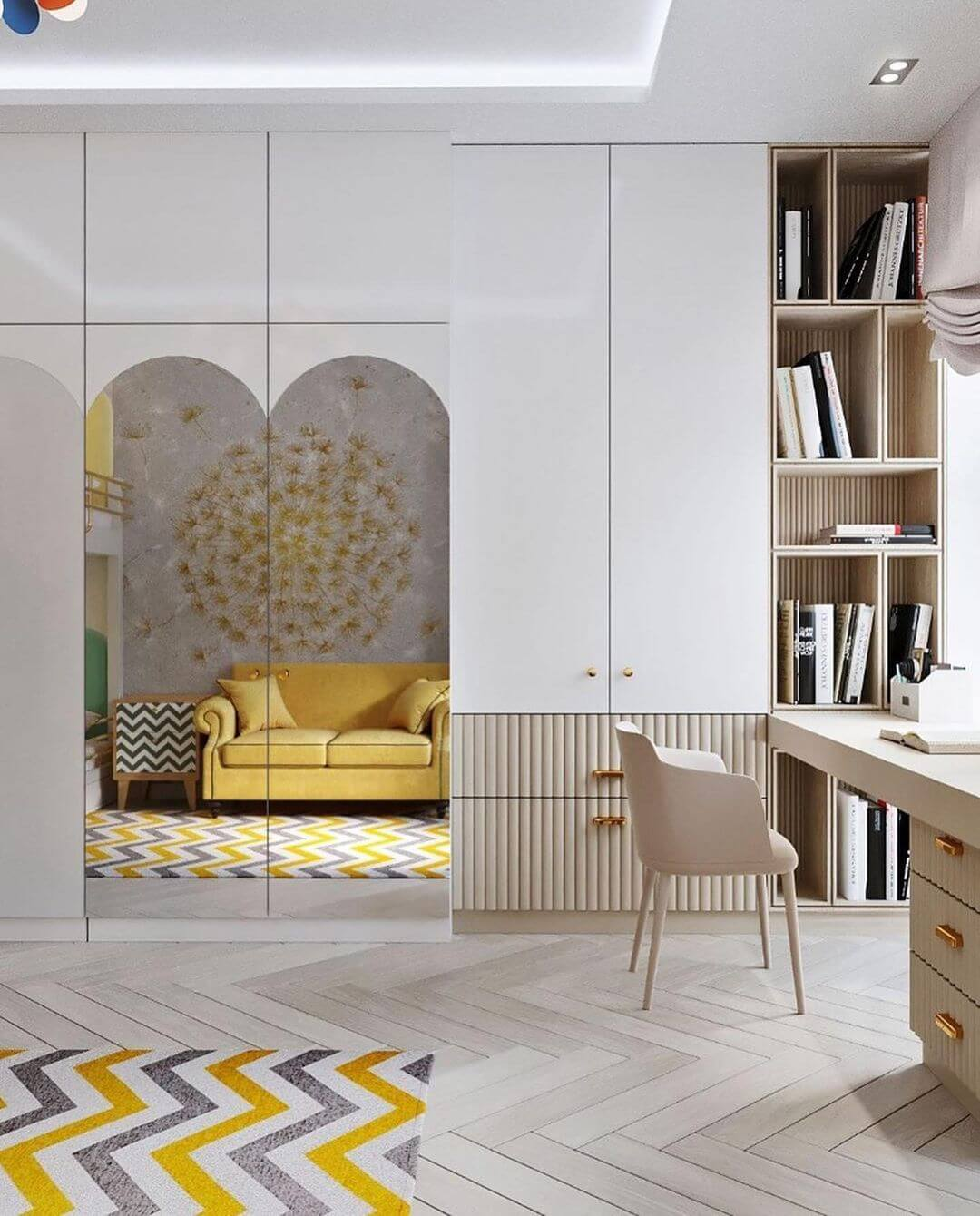 Дизайн комнаты для двоих детей-подростков 6