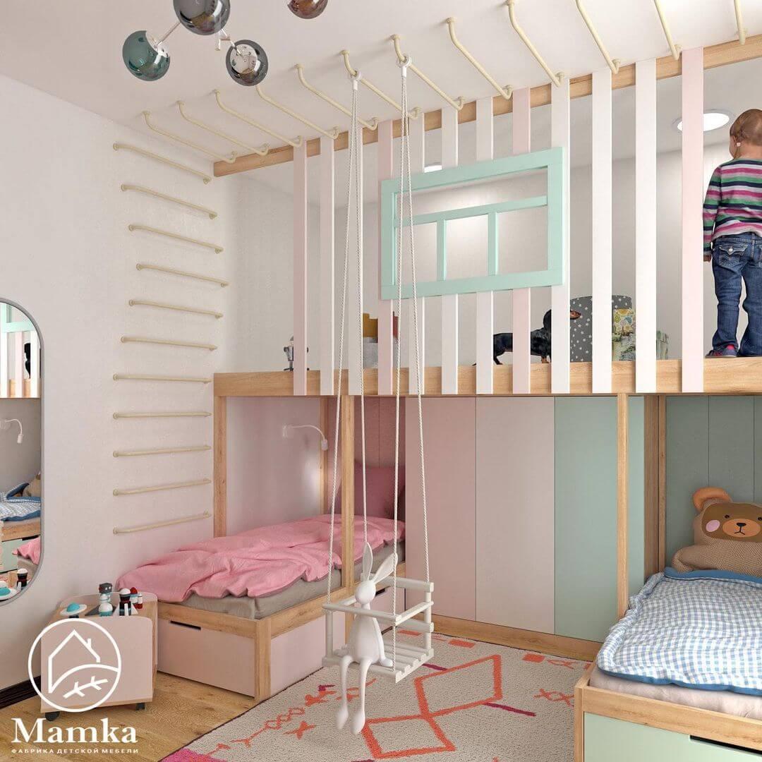 Дизайн комнаты для разнополых детей 1
