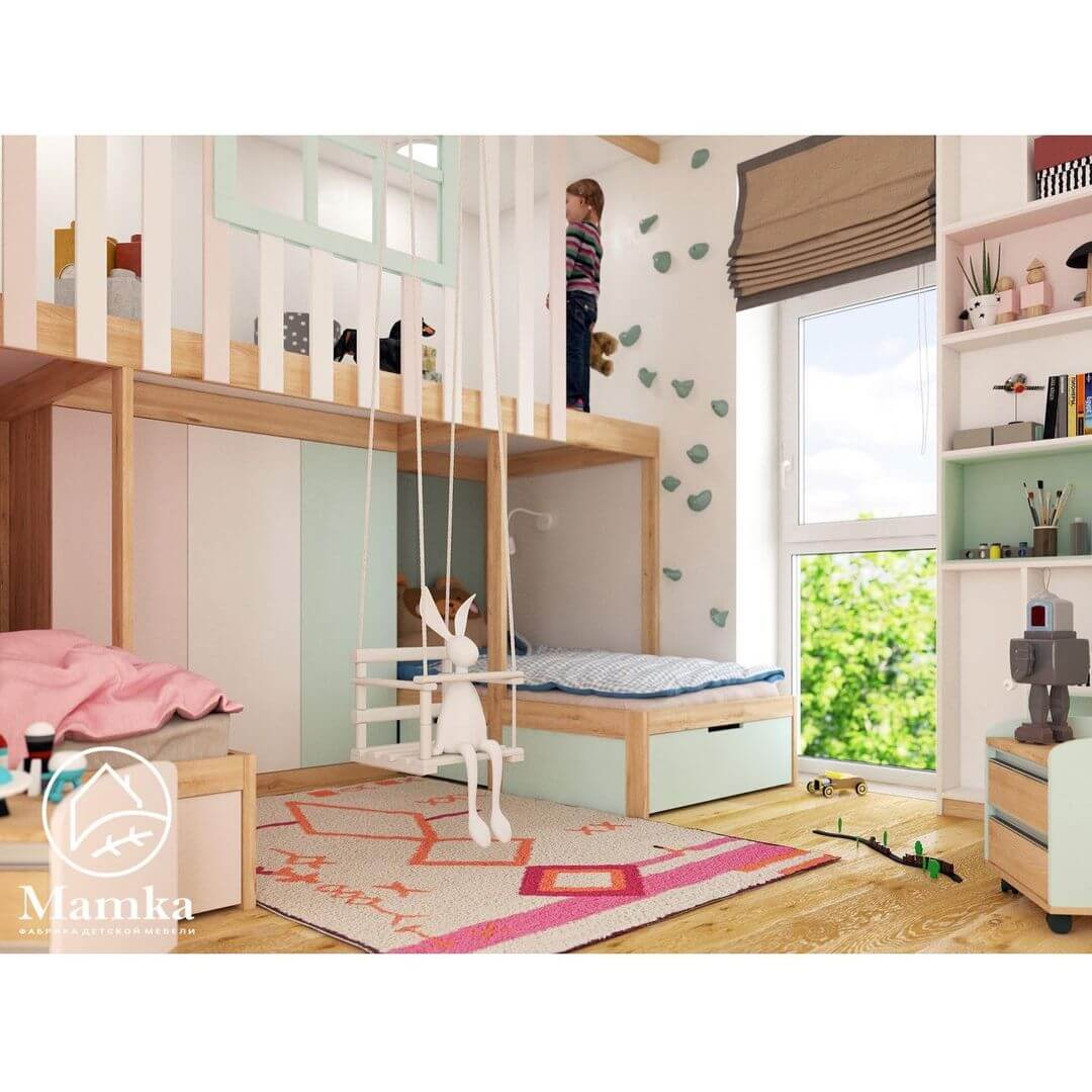 Дизайн комнаты для разнополых детей 2