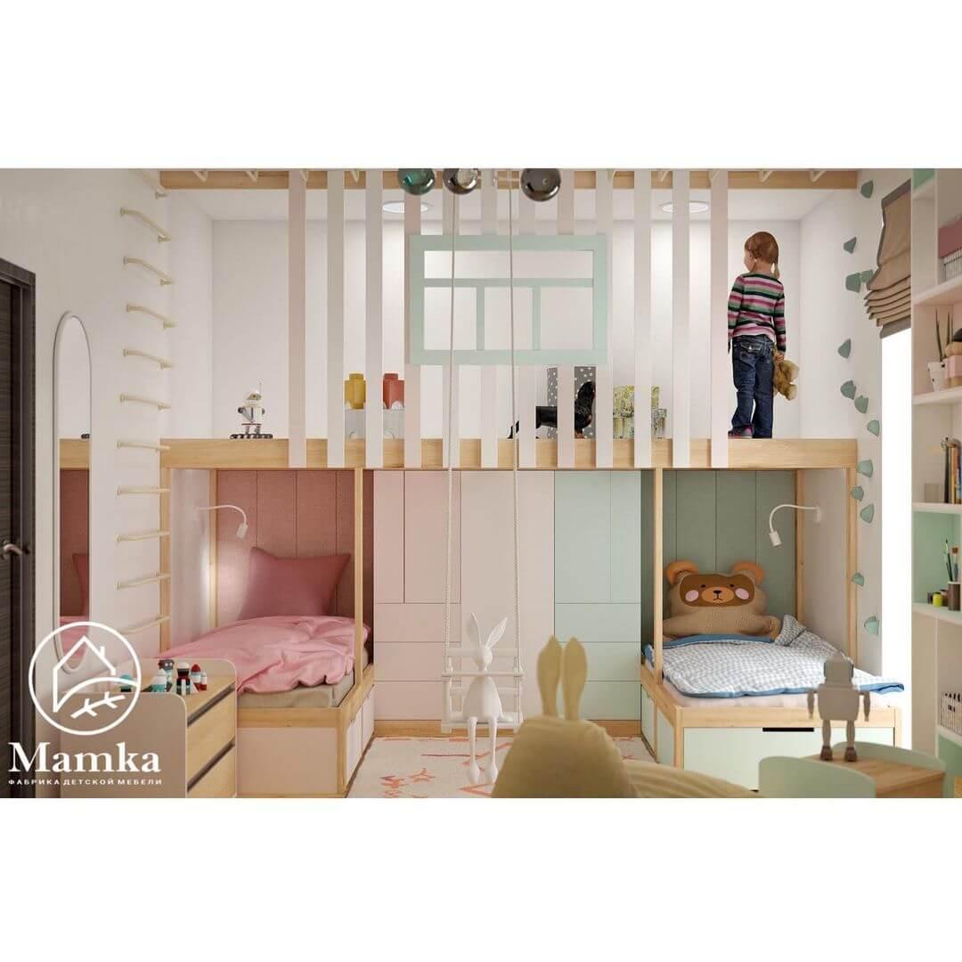 Дизайн комнаты для разнополых детей 3