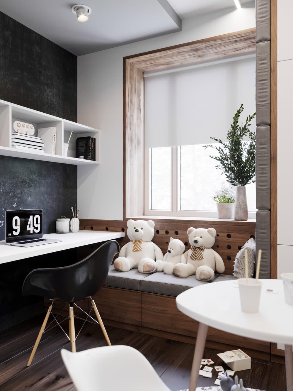 Дизайн маленькой детской комнаты для девочки 3