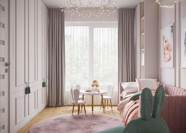 Дизайн проект комнаты для подрастающей девочки 3