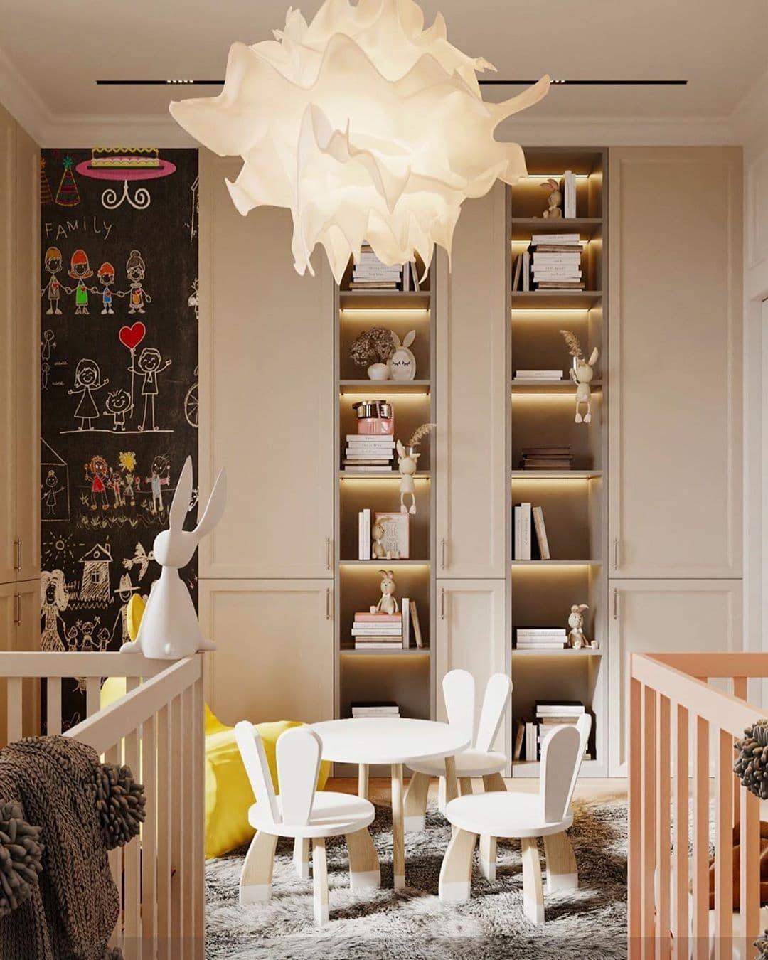 Дизайн-проект маленькой детской комнаты для девочек двойняшек 2