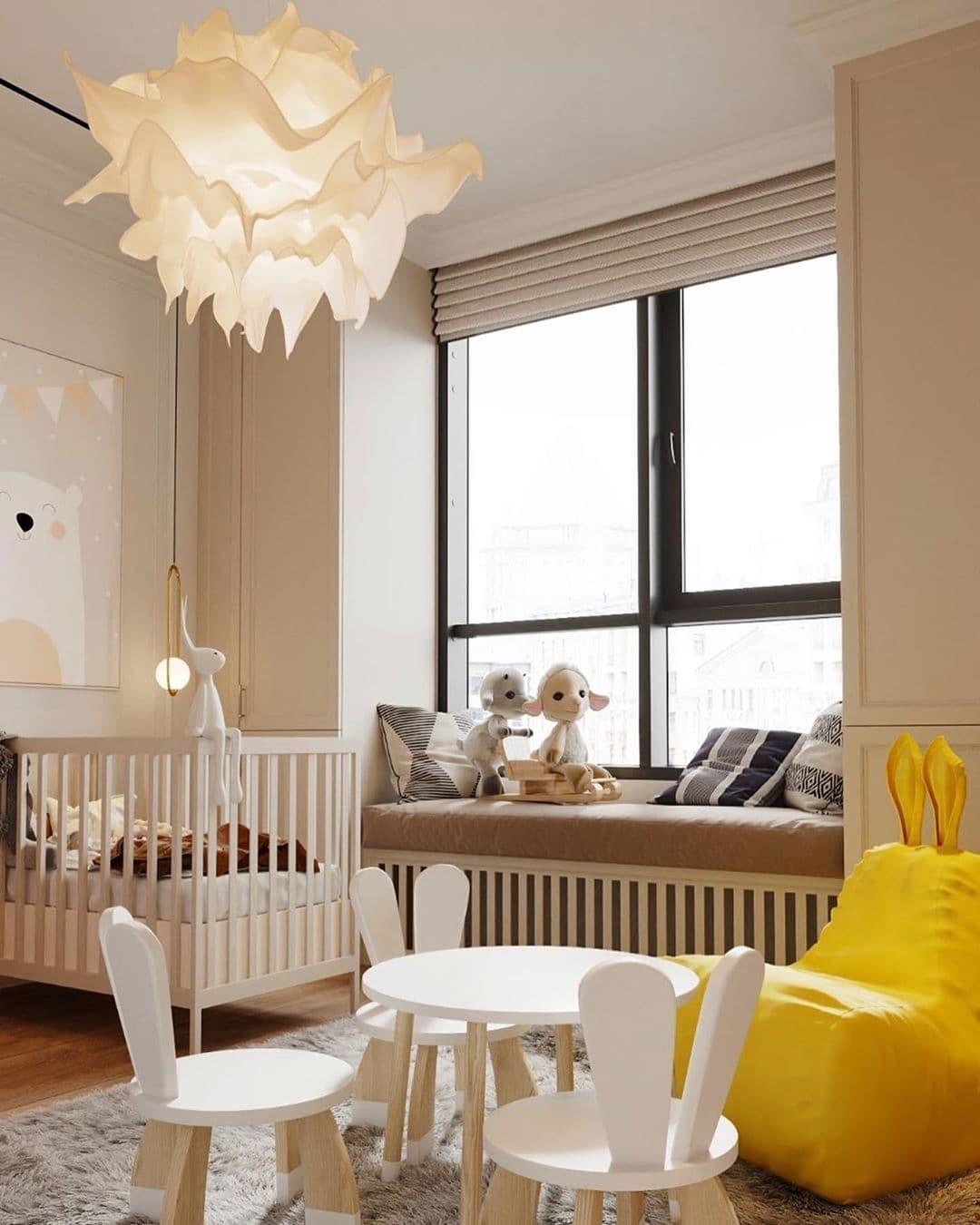 Дизайн-проект маленькой детской комнаты для девочек двойняшек 3