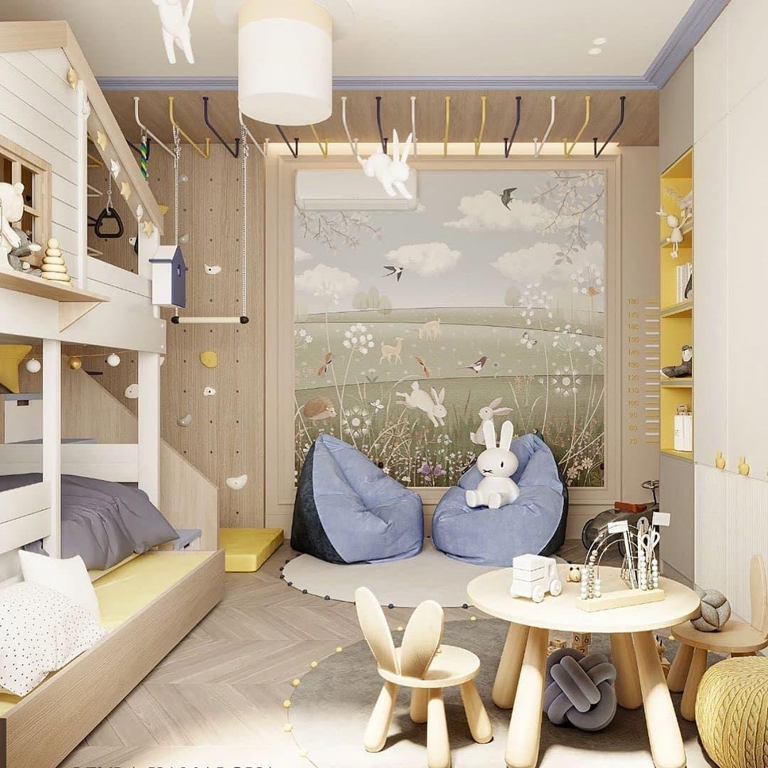 Дизайн-проект маленькой детской комнаты со спортивным уголком 3