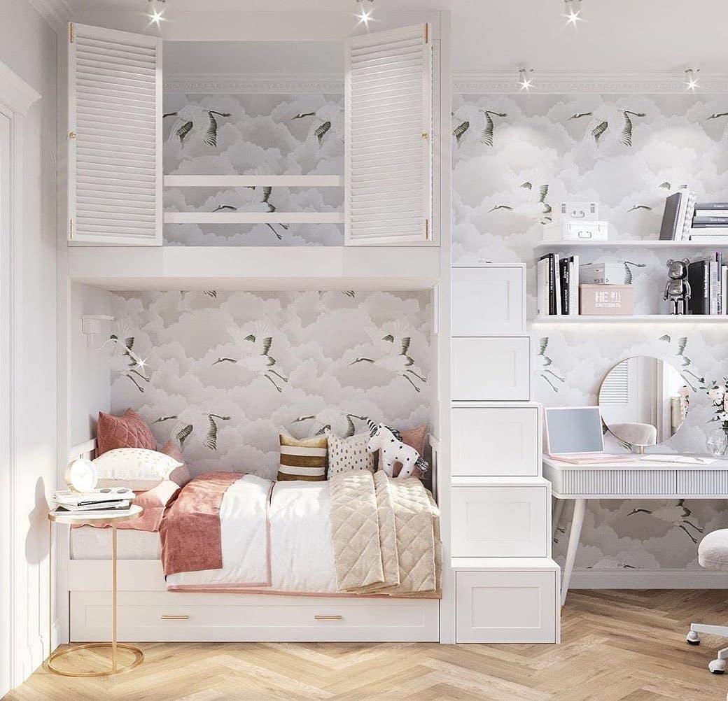 Дизайн спальни для двух девочек 1