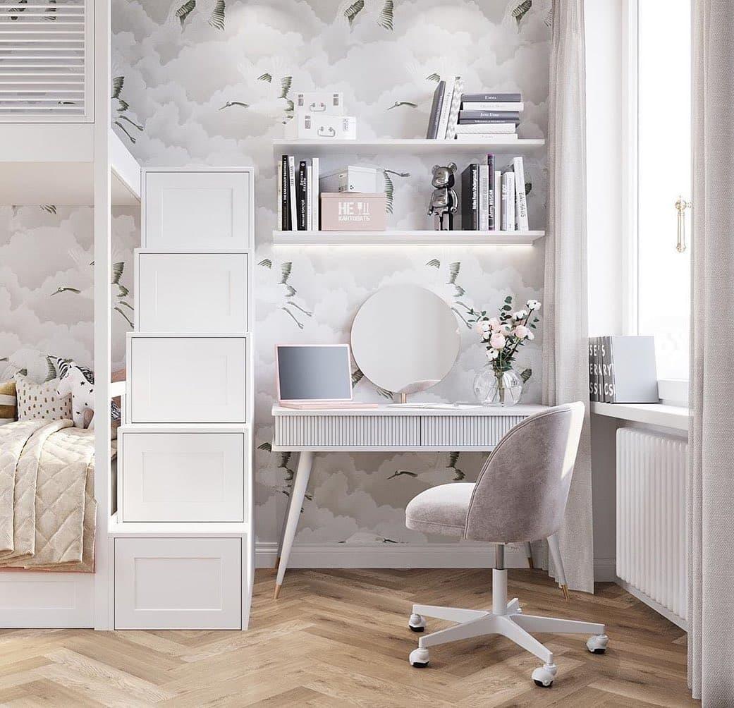 Дизайн спальни для двух девочек 2