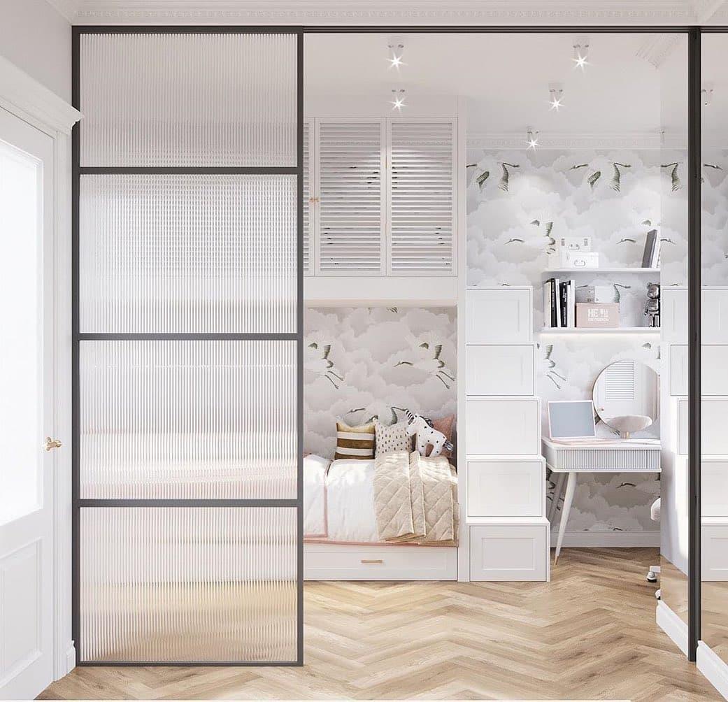 Дизайн спальни для двух девочек 5