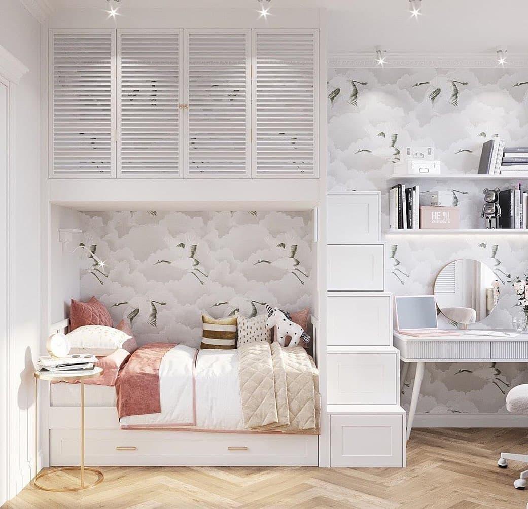 Дизайн спальни для двух девочек 6