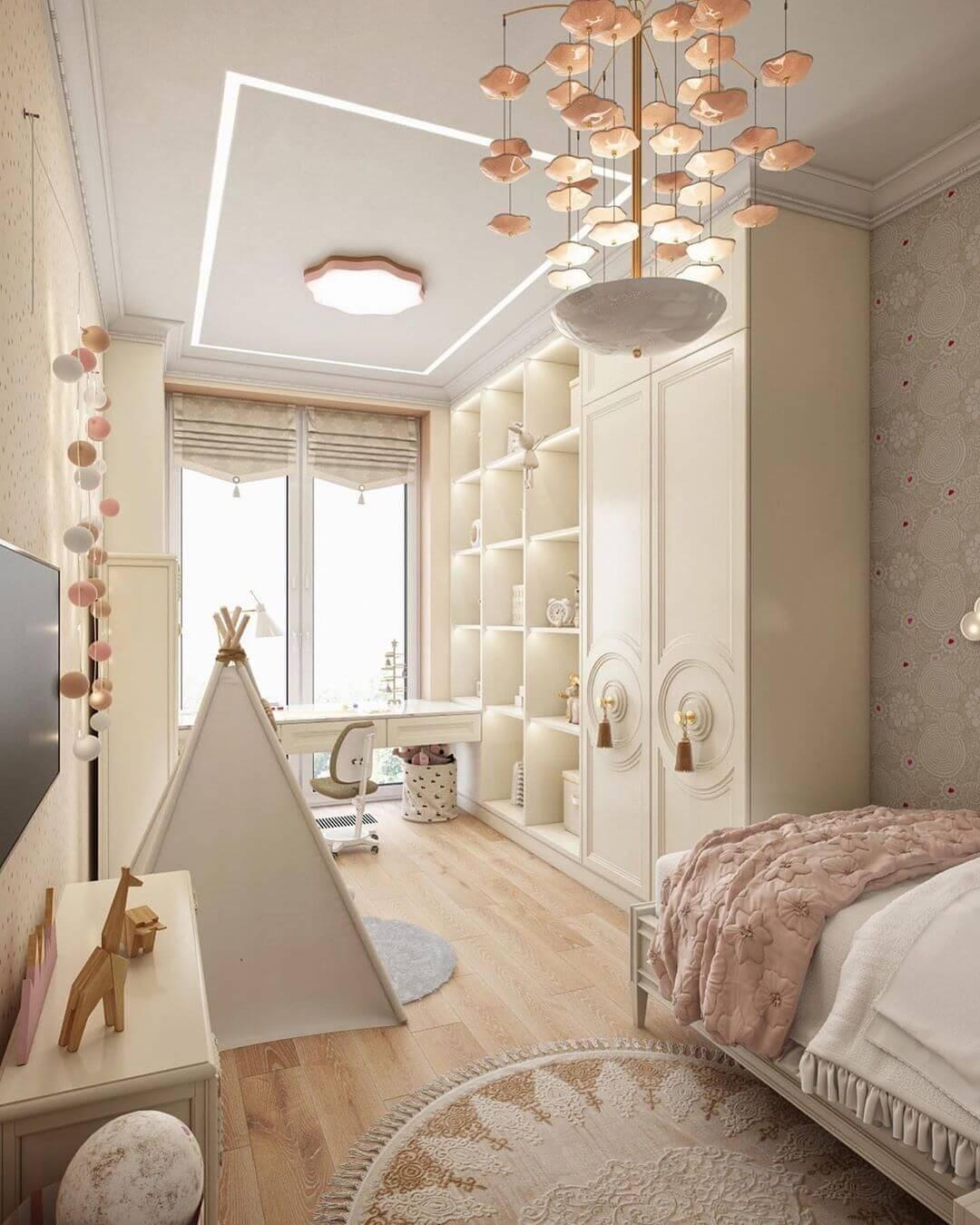 Дизайн спальни для маленькой девочки 2