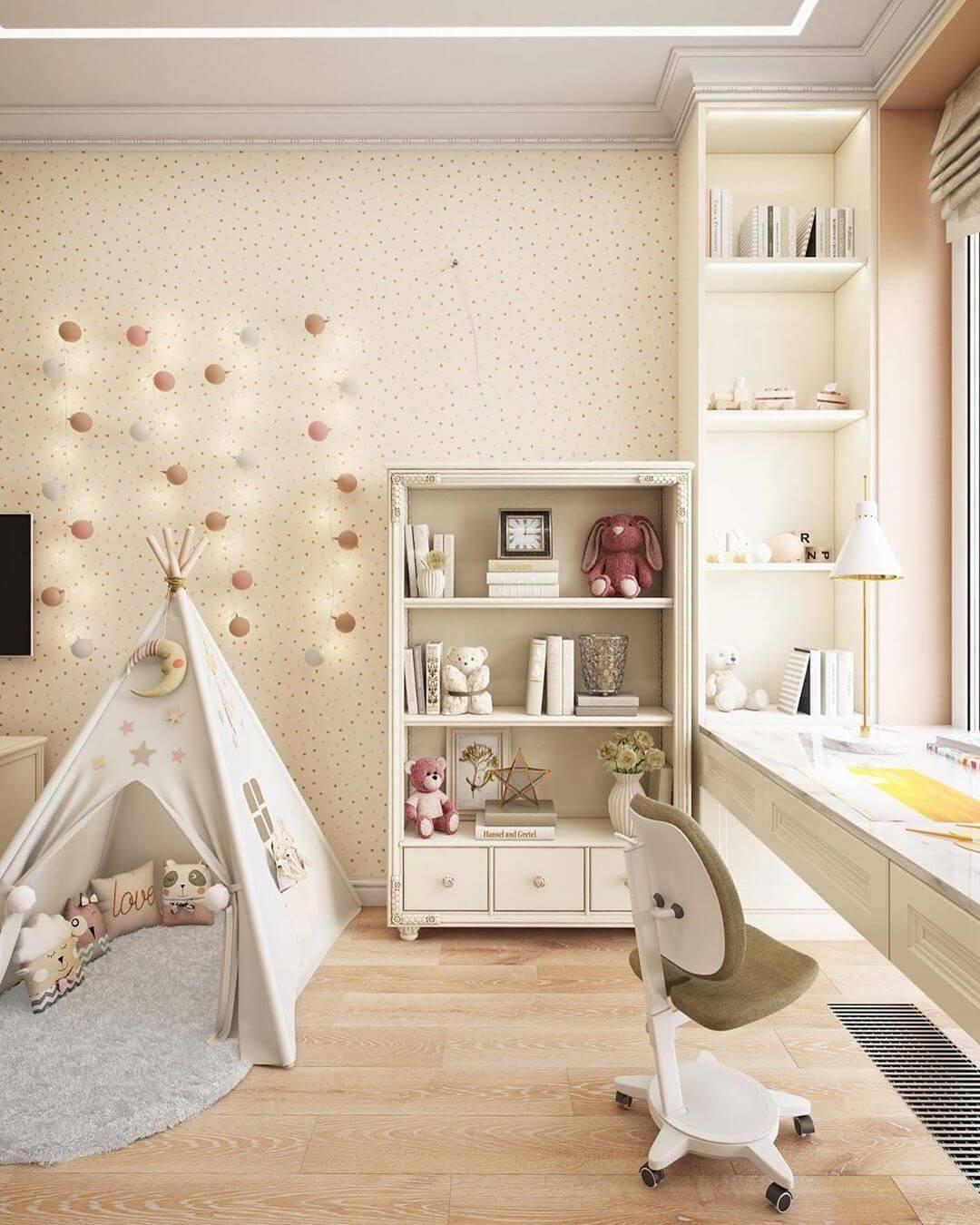 Дизайн спальни для маленькой девочки 3