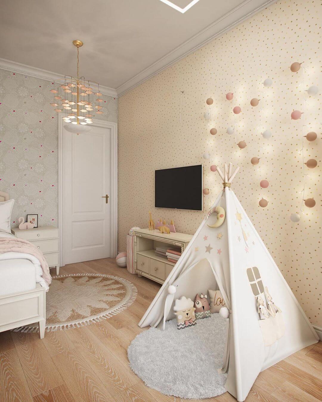 Дизайн спальни для маленькой девочки 5
