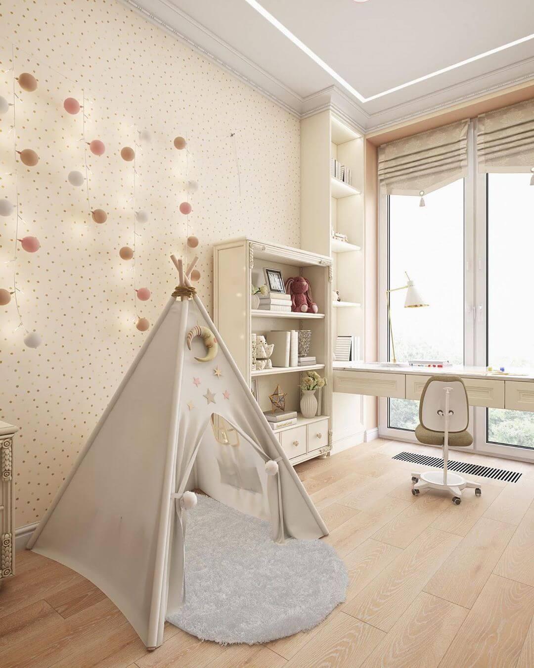 Дизайн спальни для маленькой девочки 6