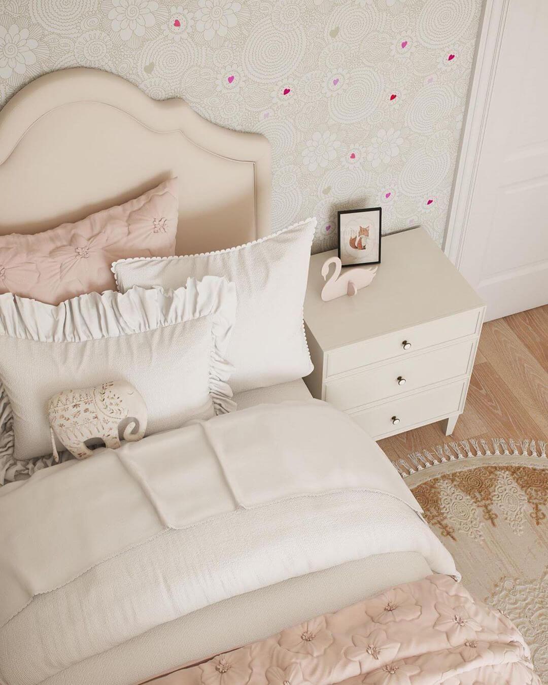 Дизайн спальни для маленькой девочки 7