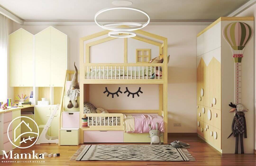Дизайн спальни для разнополых детей 1