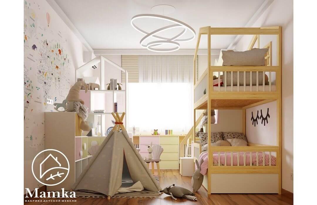 Дизайн спальни для разнополых детей 2
