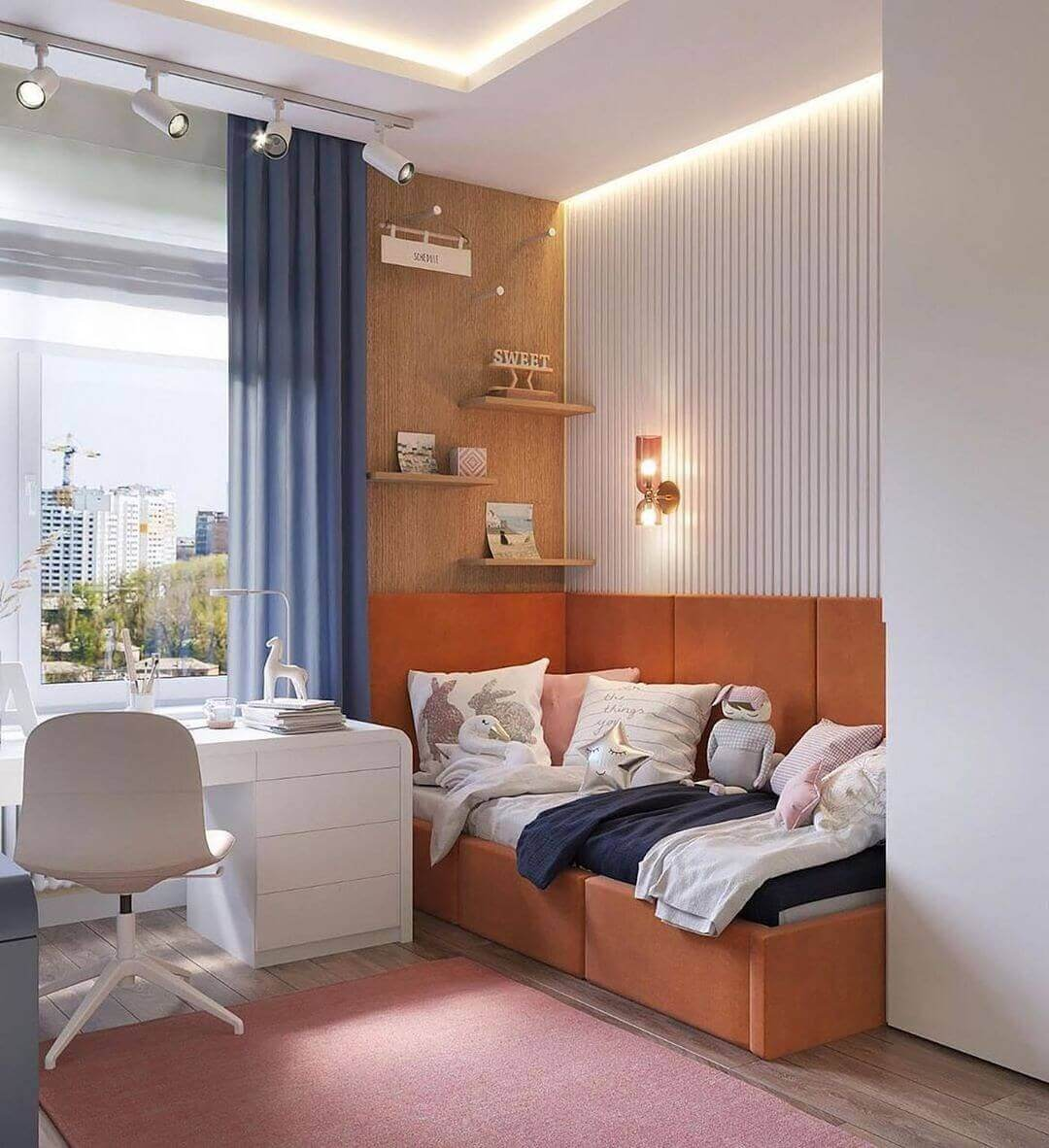 Дизайн спальни подростка в лаконичном стиле 1