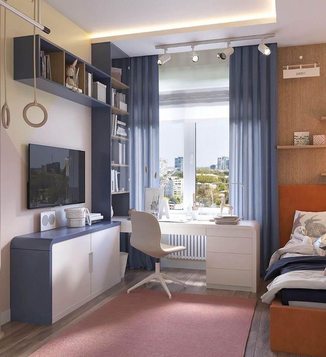 Дизайн спальни подростка в лаконичном стиле 2