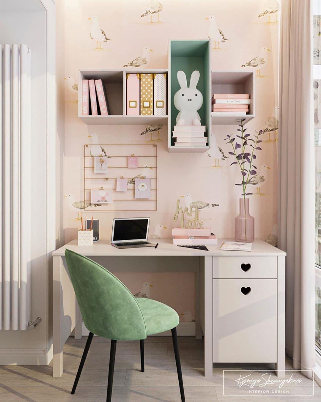 Дизайнерский интерьер детской комнаты для двух девочек 4