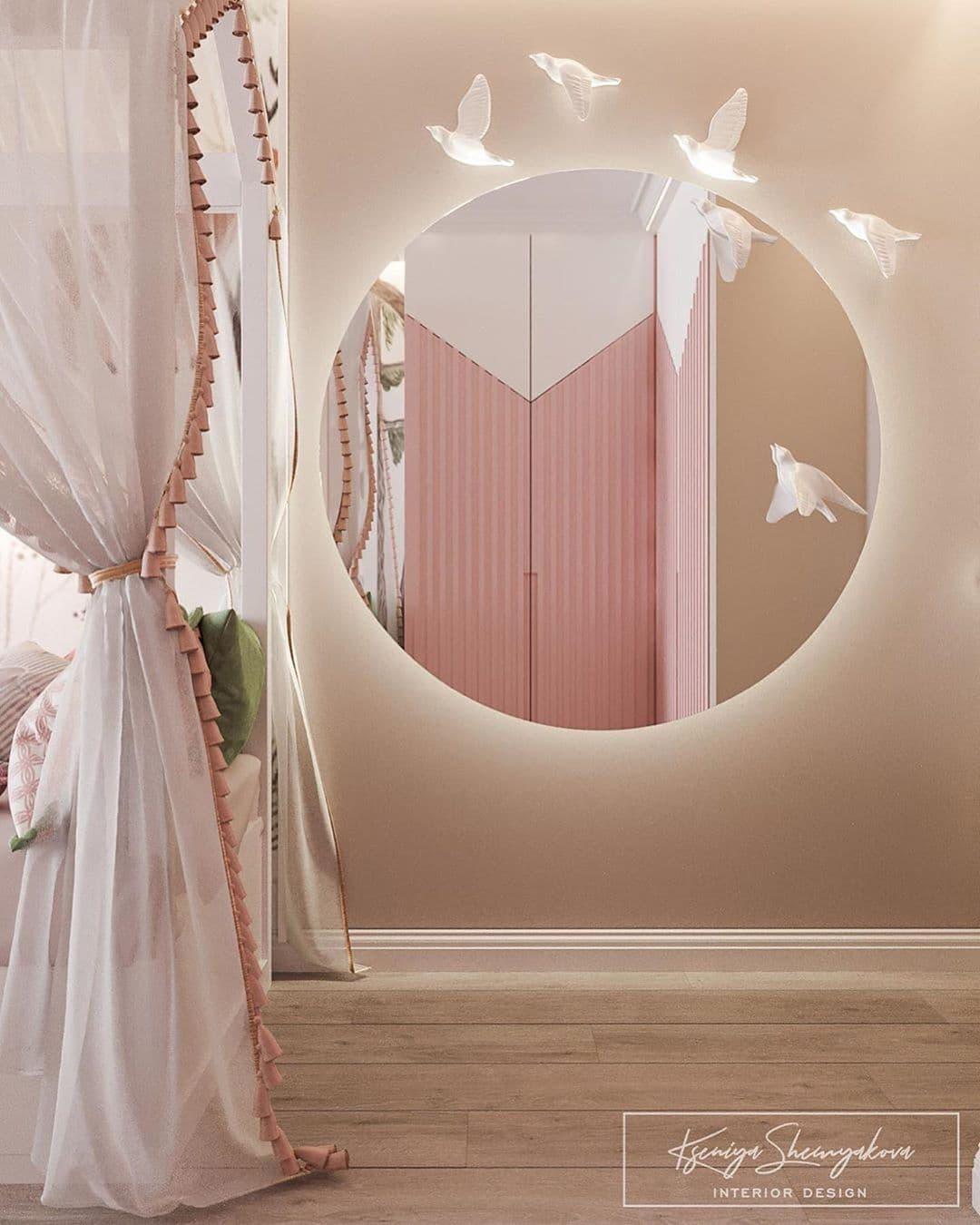 Дизайнерский интерьер детской комнаты для двух девочек 9