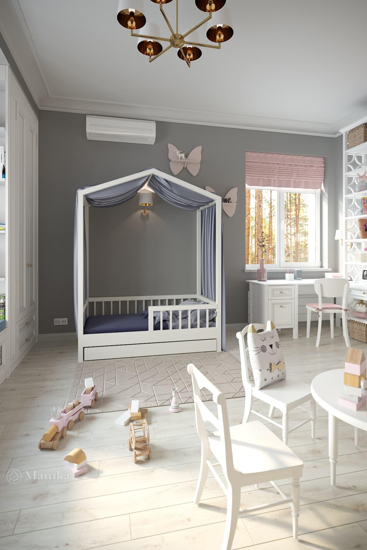Дизайн детской для девочки фото 1-5