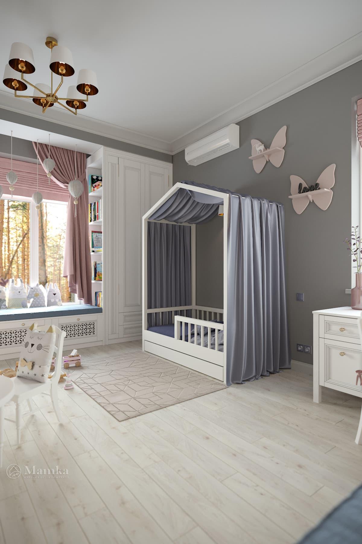 Дизайн детской для девочки фото 1-7