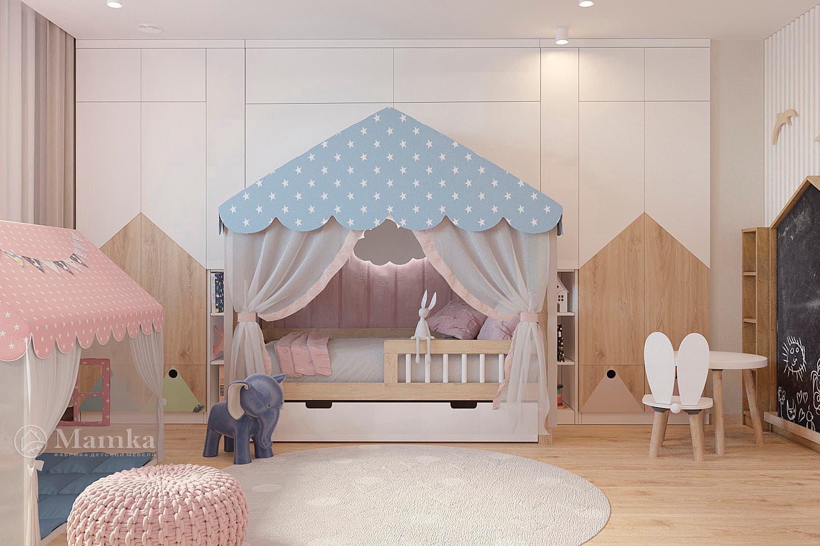 Дизайн детской для девочки фото 12-1