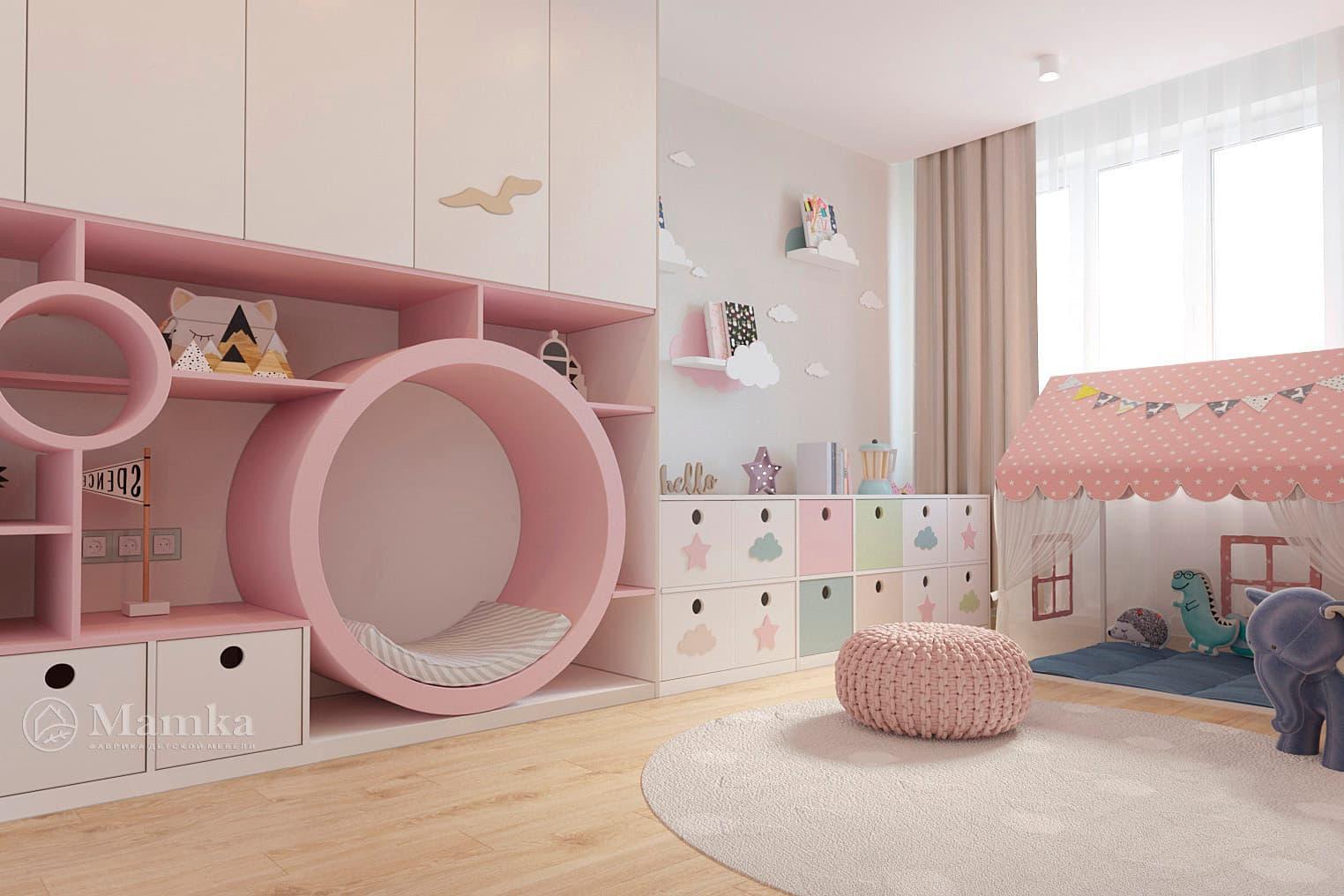 Дизайн детской для девочки фото 12-2