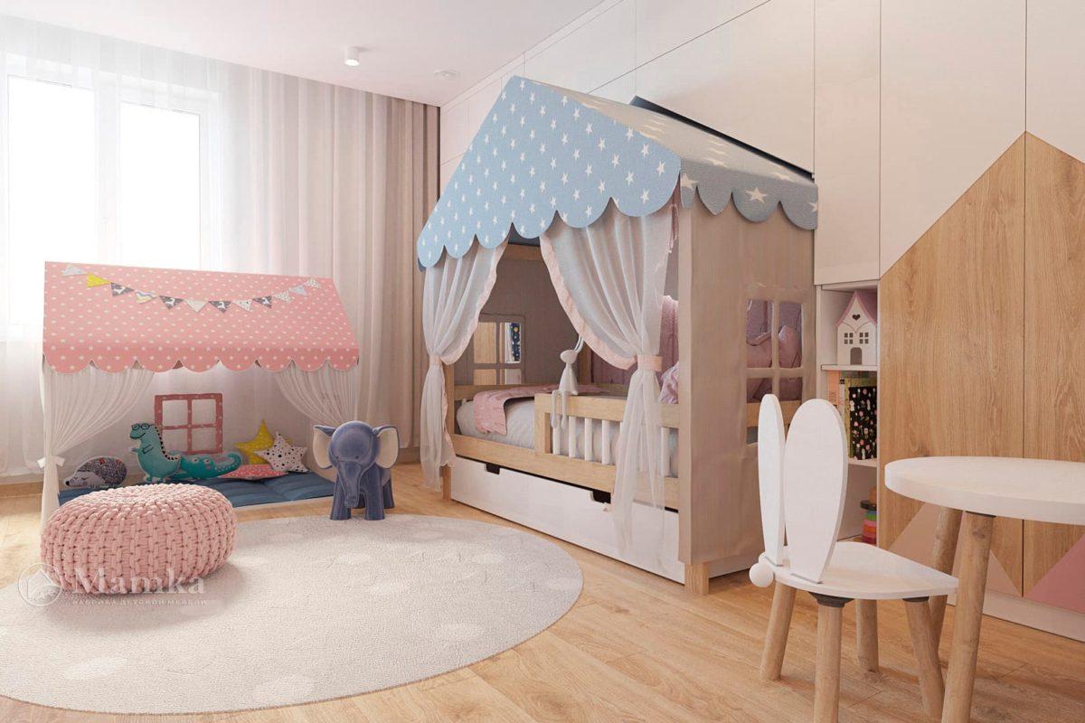 Дизайн детской для девочки фото 12-3