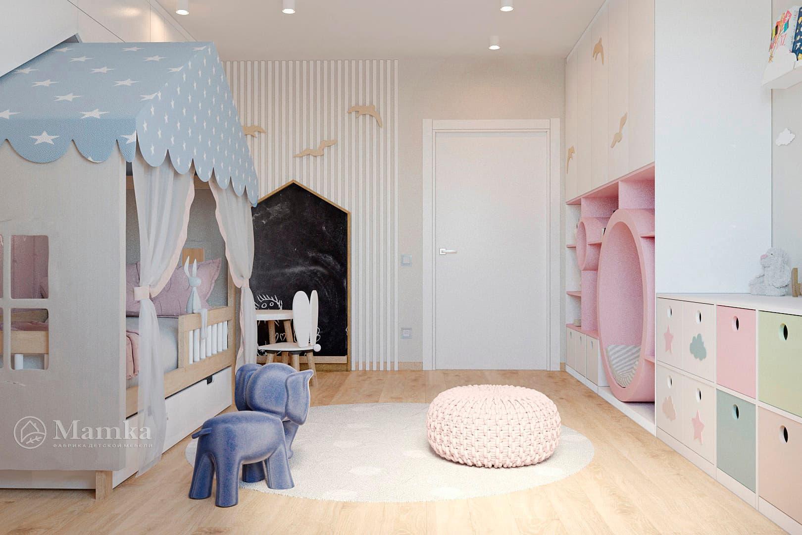 Дизайн детской для девочки фото 12-4