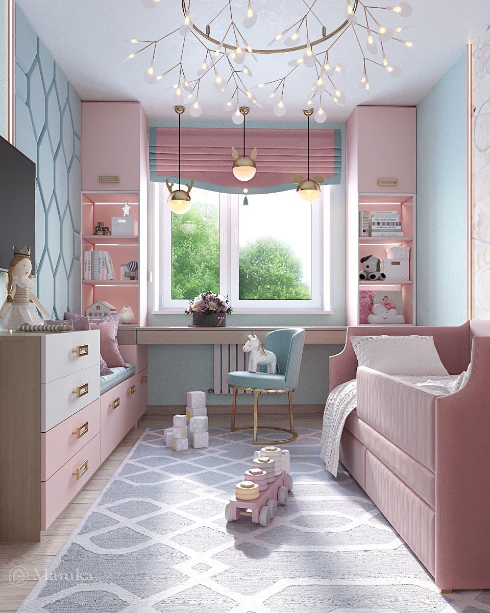 Дизайн детской для девочки фото 16-4